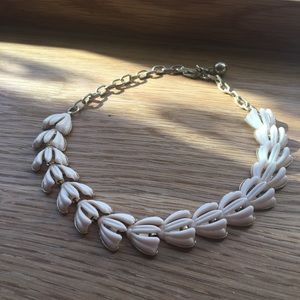 vintage gold pink 60s art deco choker necklace